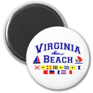 Virginia Beach VA Signal Flags 2 Inch Round Magnet