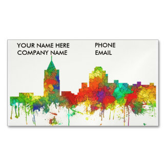Virginia Beach Viginia Skyline SG Magnetic Business Card