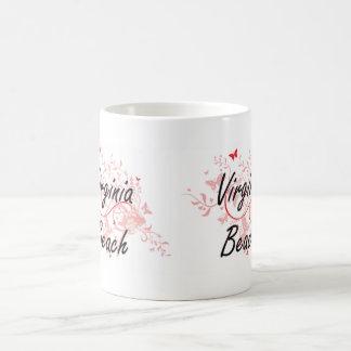 Virginia Beach Virginia City Artistic design with Coffee Mug