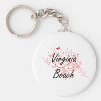 Virginia Beach Virginia City Artistic design with Keychain