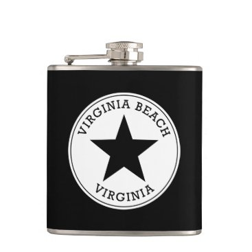 Beach Themed Virginia Beach Virginia Flask