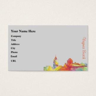 VIRGINIA BEACH, VIRGINIA SKYLINE WB1 - BUSINESS CARD
