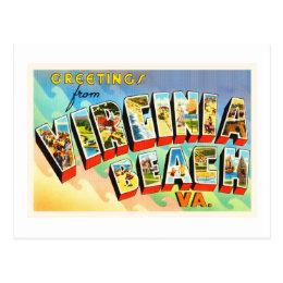 Virginia Beach Virginia VA Vintage Travel Postcard