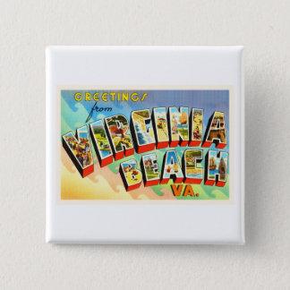 Virginia Beach Virginia VA Vintage Travel Postcard Button
