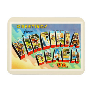 Virginia Beach Virginia VA Vintage Travel Postcard Magnet