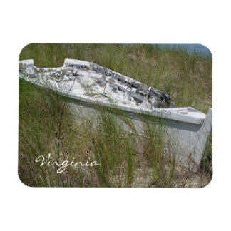 Virginia Beached Boat Rectangular Photo Magnet