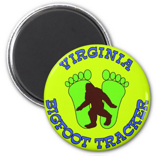Virginia Bigfoot Tracker 2 Inch Round Magnet