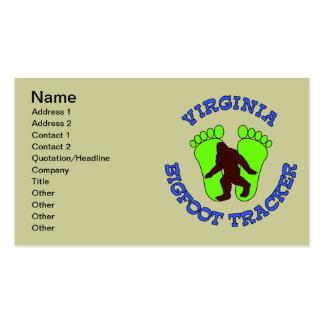 Virginia Bigfoot Tracker Business Card Template