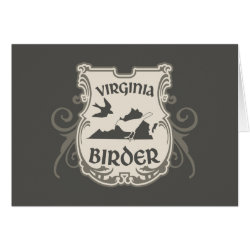 Greeting Card with Virginia Birder design