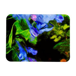 Virginia Bluebell Wildflower Impressionist Rectangular Photo Magnet