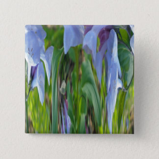 Virginia Bluebells Abstract Pinback Button