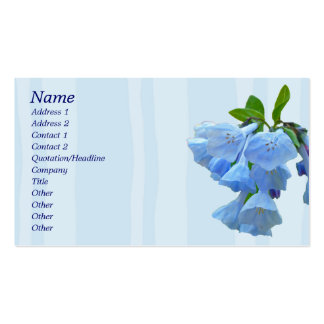 Virginia Bluebells Coordinating Items Double-Sided Standard Business Cards (Pack Of 100)