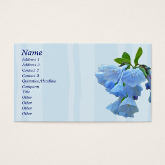Virginia Bluebells Coordinating Items Business Card