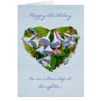 Virginia Bluebells Daughter Birthday Card