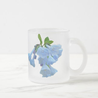Virginia Bluebells Wildflower Frosted Glass Coffee Mug