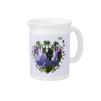 Virginia Bluebells Wildflowers Beverage Pitcher