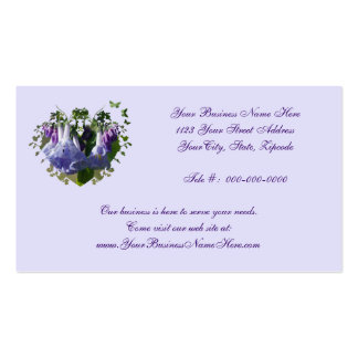 Virginia Bluebells Wildflowers Double-Sided Standard Business Cards (Pack Of 100)