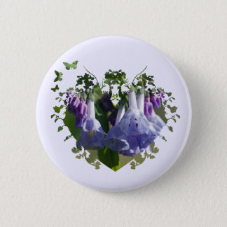 Virginia Bluebells Wildflowers Button