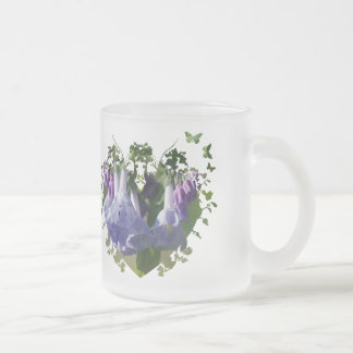 Virginia Bluebells Wildflowers Frosted Glass Coffee Mug