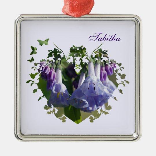Virginia Bluebells Wildflowers Metal Ornament