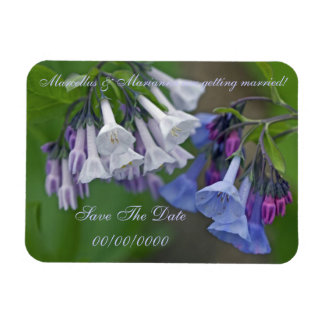 Virginia Bluebells Wildflowers - Save The Date Rectangular Photo Magnet
