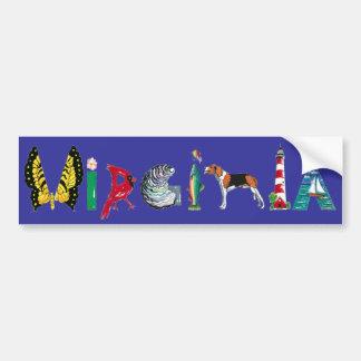 Virginia bumper sticker car bumper sticker