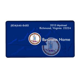 Virginia Business Label