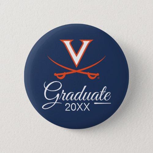Virginia Cavaliers  Graduation Button