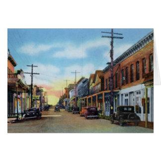 Virginia City Nevada a lo largo de la calle de C Tarjeta De Felicitación