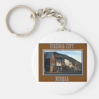Virginia City Nevada Basic Round Button Keychain