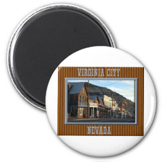 Virginia City Nevada Imán Redondo 5 Cm