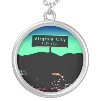 Virginia City Nevada Sterling Silver Necklace
