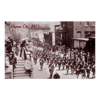 Virginia City Parade Vintage Poster