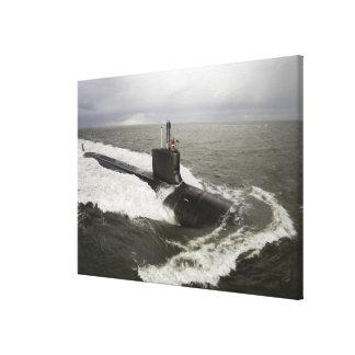 Virginia-class attack submarine canvas print
