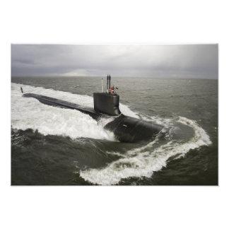 Virginia-class attack submarine photo print