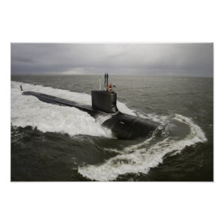 Virginia-class attack submarine poster