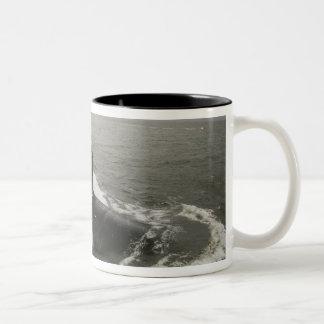 Virginia-class attack submarine Two-Tone coffee mug