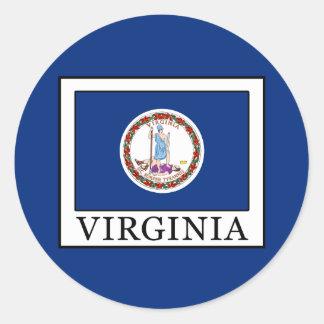 Virginia Classic Round Sticker