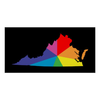 virginia color burst poster