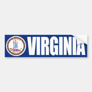 Virginia con la bandera del estado etiqueta de parachoque