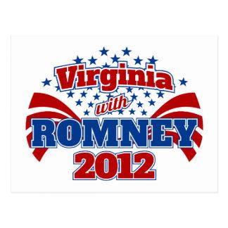 Virginia con Romney 2012 Postal