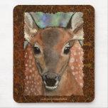 Virginia Deer Fawn Baby Animal Wildlife Art Mouse Pad