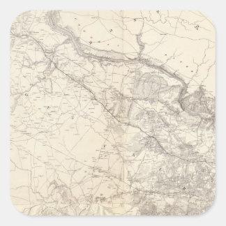 Virginia del este pegatina cuadrada