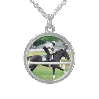 "Virginia Derby Winner ""War Dancer"" Sterling Silver Necklace"
