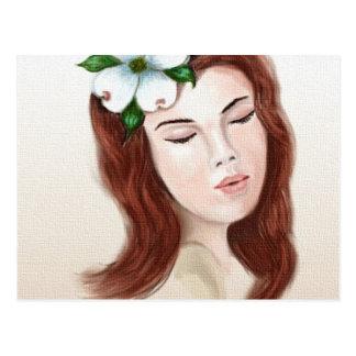 Virginia Dogwood Flower Girl Postcard