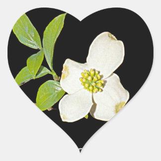 Virginia Dogwood Heart Sticker