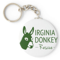 Virginia Donkey Rescue Keychain