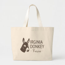Virginia Donkey Rescue Logo Items Large Tote Bag