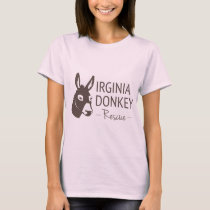 Virginia Donkey Rescue Logo Items T-Shirt