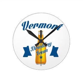 Virginia Drinking team Round Clock